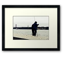 Occasional couple of fishers Framed Print