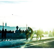 Twilight In Downtown Lisbon Photographic Print