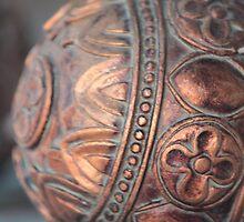 Antique Copper Sphere by Brenda Roy