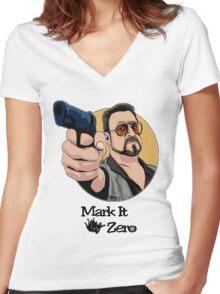 """Mark It Zero"" Women's Fitted V-Neck T-Shirt"