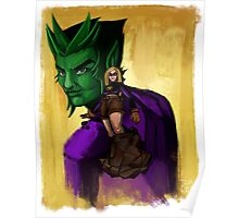 Evil Terra-forming With Beast boy Poster