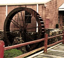 Waterwheel and Bridge 2 by Emily Rose