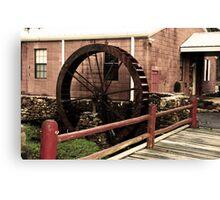 Waterwheel and Bridge 2 Canvas Print