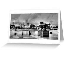Urban Landscape Singapore BW Greeting Card