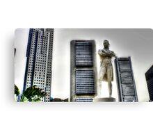 Urban Landscape Singapore, Stamford Raffles Canvas Print