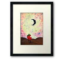 Mister Strawberry Cries at the Moon Framed Print