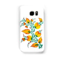 Floral unique painting in warm colors Samsung Galaxy Case/Skin