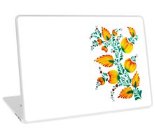 Floral unique painting in warm colors Laptop Skin