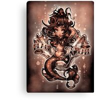 "Black Pearl  ""sepia tone"" Canvas Print"