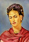 portrait of Frida Kahlo by Hidemi Tada