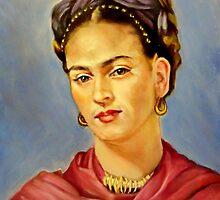 portrait of Frida Kahlo by Hidemi Tada