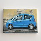Blue Car Postcard Size Acrylic painting by witchling