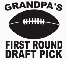 Grandpa's First Round Draft Pick Football One Piece - Short Sleeve