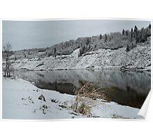 First Snow ~ North Saskatchewan River Poster
