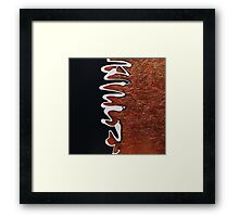 Heroes and Villains and Twisted Plot Lines Framed Print