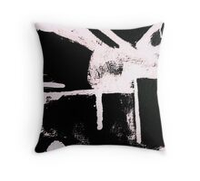 From Paint to Print Throw Pillow