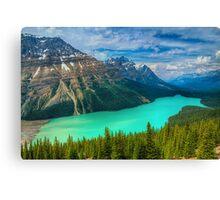 Peyto Lake WideScape Canvas Print