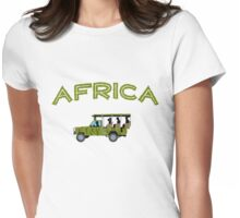 African Safari Womens Fitted T-Shirt