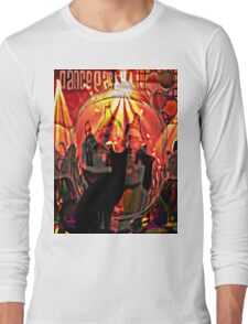 the black cat dance party Long Sleeve T-Shirt
