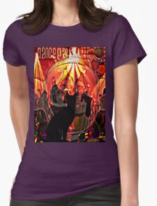 the black cat dance party Womens Fitted T-Shirt