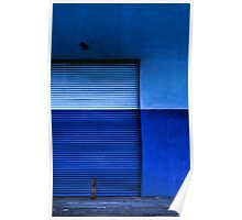 Blue Door Two Tone Poster