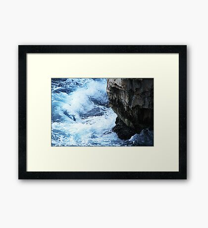 The fight of natural elements Framed Print