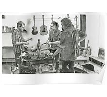 Clingan Guitar Tone - Pencil Sketch - Alford Poster