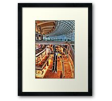 Arcade in Marina Bay Sands Expo & Convention Centre Framed Print