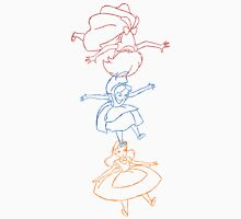 Hand drawn animation Key frames - Alice in Wonderland Womens Fitted T-Shirt