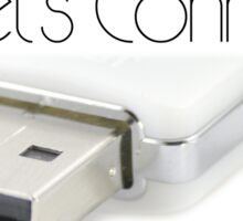 Let's connect USB Sticker