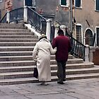 Old Couple walking in Venice  by incipient