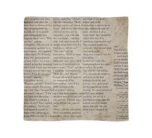 Alice In Wonderland - Alice & the Hookah Smoking Caterpillar Literary Excerpts  Scarf