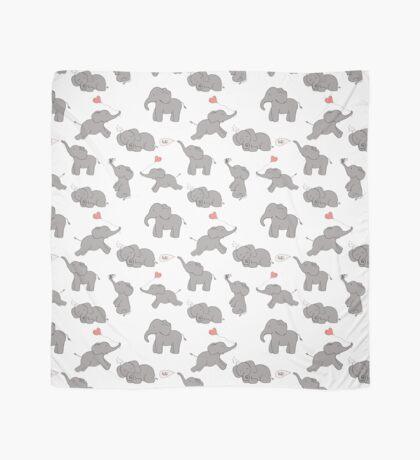 Cute and funny elephants Scarf