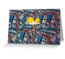 Hey Arnold! Cosby Sweater with Background Greeting Card