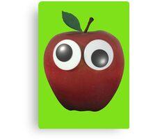 Googly-Eyed Apple Canvas Print