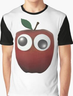 Googly-Eyed Apple Graphic T-Shirt