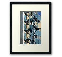 Fire Escapes Framed Print