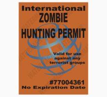 Zombie Hunting Permit #2 by Tony  Bazidlo