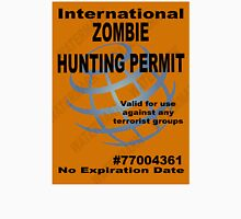 Zombie Hunting Permit #2 Unisex T-Shirt