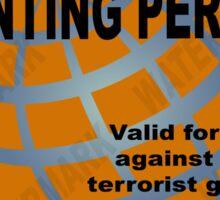 Zombie Hunting Permit #2 Sticker