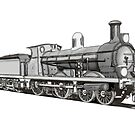 4-4-0 Compound Steam Locomotive by Radwulf