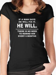 He Will Women's Fitted Scoop T-Shirt