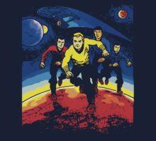 Kirk, Spock, Scott, McCoy by loogyhead