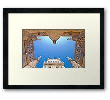 belem tower cloister. Framed Print