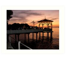 Sunset over Lake Constance-Bodensee Art Print
