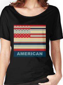 American Flag Pop Art Women's Relaxed Fit T-Shirt