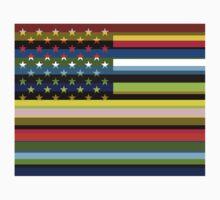 American Flag Pop Art 4 One Piece - Short Sleeve