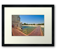 bridge access to the tower Framed Print