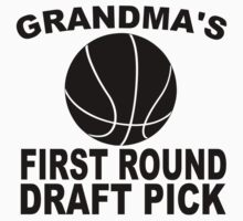 Grandma's First Round Draft Pick Basketball Kids Tee