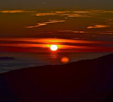 Sunrise on Cadillac Mt. Maine by Dan Hatch